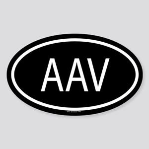 AAV Oval Sticker