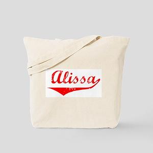 Alissa Vintage (Red) Tote Bag