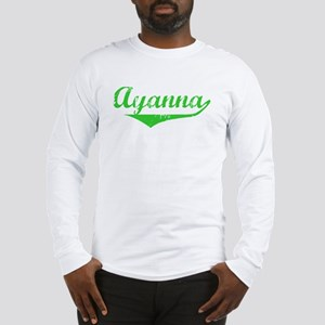 Ayanna Vintage (Green) Long Sleeve T-Shirt