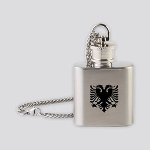 albanian_eagle Flask Necklace