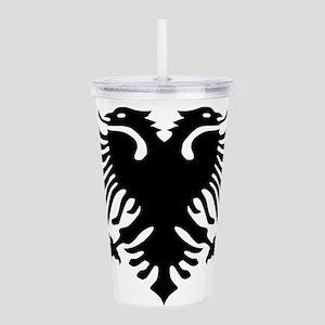 albanian_eagle Acrylic Double-wall Tumbler
