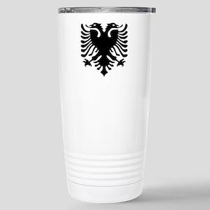 albanian_eagle Stainless Steel Travel Mug
