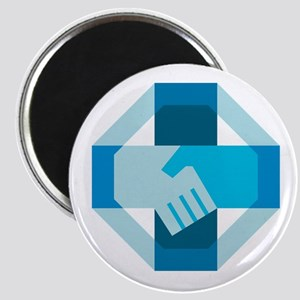 Handshake Forming Cross Octagon Retro Magnets