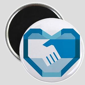 Handshake Forming Heart Shape Retro Magnets