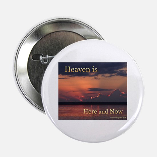 """Heaven Here and Now - Square 2.25"""" Button"""