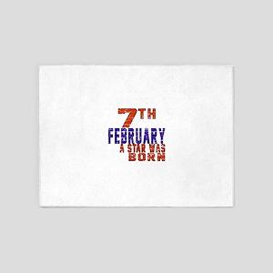 7 February A Star Was Born 5'x7'Area Rug