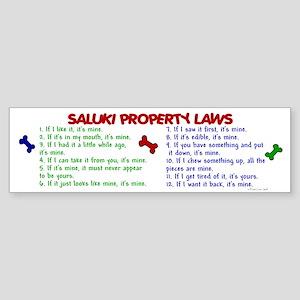 Saluki Property Laws 2 Bumper Sticker