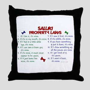 Saluki Property Laws 2 Throw Pillow