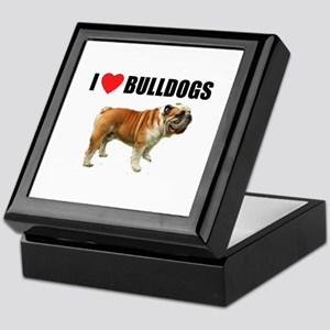 I Love Bulldogs Keepsake Box