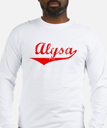 Alysa Vintage (Red) Long Sleeve T-Shirt