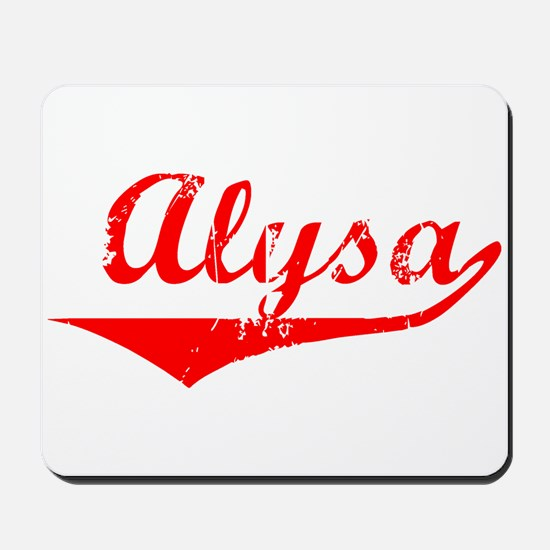 Alysa Vintage (Red) Mousepad