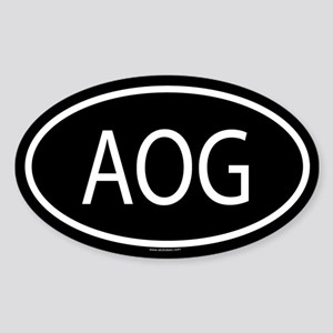 AOG Oval Sticker
