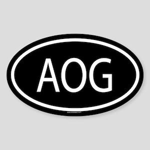 AOG Oval Sticker