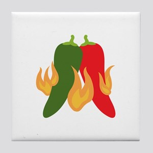 Hot Chili Peppers Tile Coaster