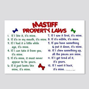 Mastiff Property Laws 2 Postcards (Package of 8)