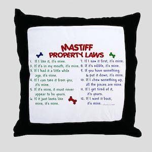 Mastiff Property Laws 2 Throw Pillow
