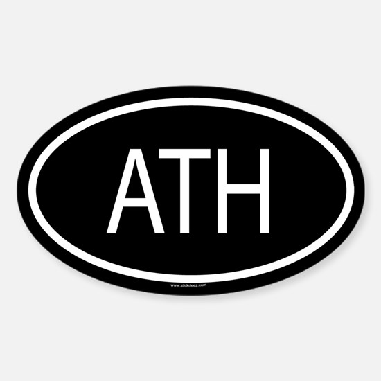 ATH Oval Decal