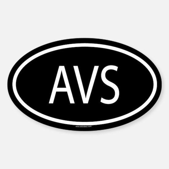 AVS Oval Decal