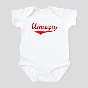 Amaya Vintage (Red) Infant Bodysuit