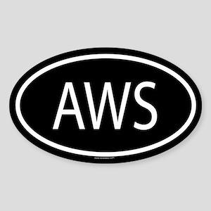 AWS Oval Sticker