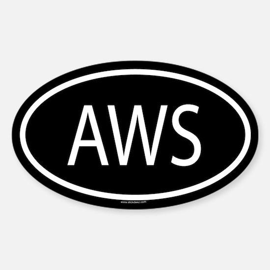 AWS Oval Decal