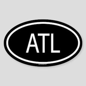 ATL Oval Sticker