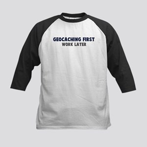Geocaching First Kids Baseball Jersey