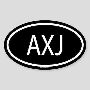 AXJ Oval Sticker