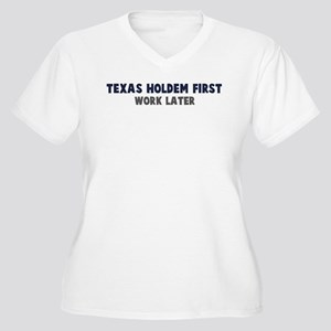 Texas Holdem First Women's Plus Size V-Neck T-Shir