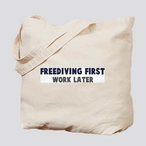 Freediving First Tote Bag