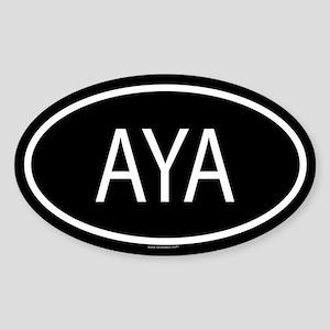 AYA Oval Sticker