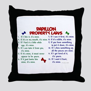Papillon Property Laws 2 Throw Pillow