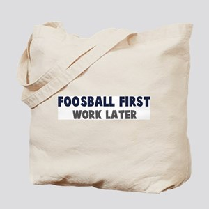 Foosball First Tote Bag
