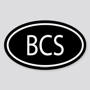 BCS Oval Sticker