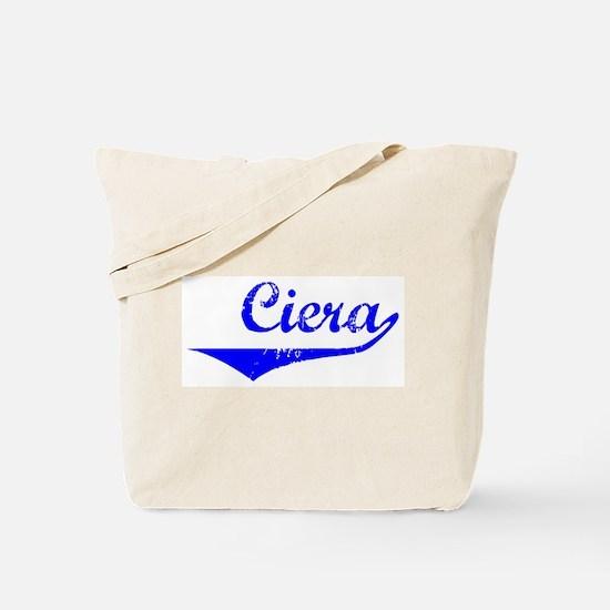 Ciera Vintage (Blue) Tote Bag