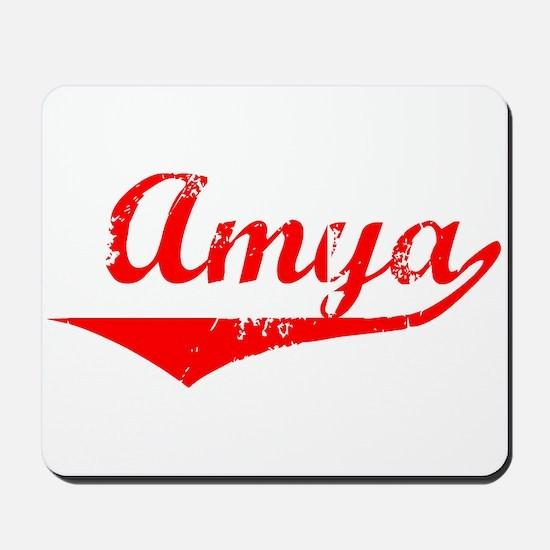 Amya Vintage (Red) Mousepad