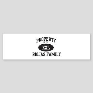 Property of Riojas Family Bumper Sticker