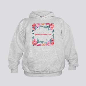 Watercolor Floral with Custom Text Sweatshirt