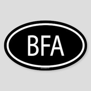 BFA Oval Sticker