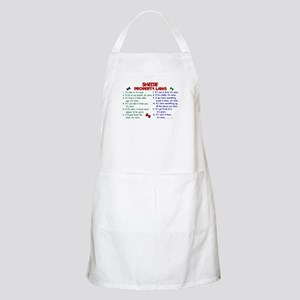 Sheltie Property Laws 2 BBQ Apron