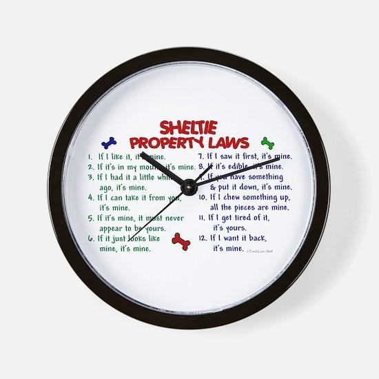 Sheltie Property Laws 2 Wall Clock