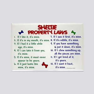 Sheltie Property Laws 2 Rectangle Magnet