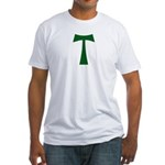 Tau Cross (green): Fitted T-Shirt
