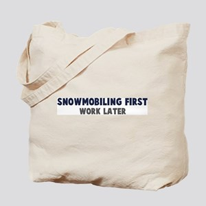 Snowmobiling First Tote Bag