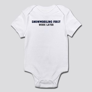 Snowmobiling First Infant Bodysuit
