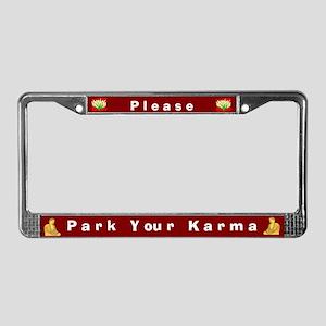 Please Park Your Karma #1 License Plate Frame