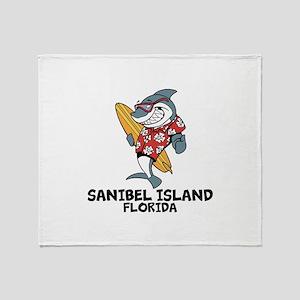 Sanibel Island, Florida Throw Blanket