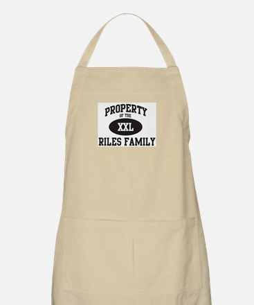 Property of Riles Family BBQ Apron