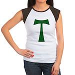 Tao Cross (green): Women's Cap Sleeve T-Shirt