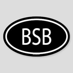BSB Oval Sticker